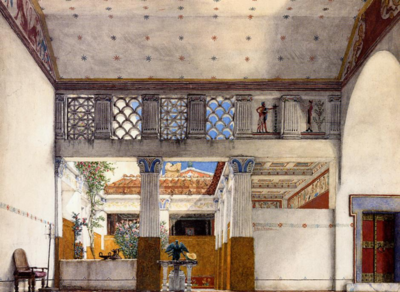 Sir Lawrence Alma-Tadema: Interior of Caius Martius' House, 1907