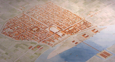 Plan of Roman Cologne, reconstruction