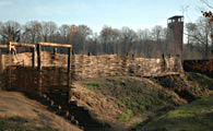 Kalriese Varus Battle, reconstructed rampart