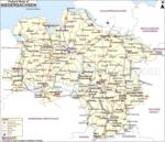 Map of Niedersachsen