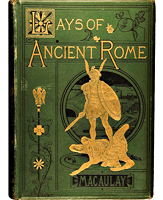 Lays of Ancient Rome, book cover