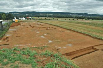 Waldgirmes, excavation of the western wall, in 2005
