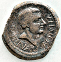 Publius Quintilius Varus on a coin from Africa
