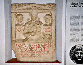 Monument for Marcus Caelius, reproduction, Saalburg Museum