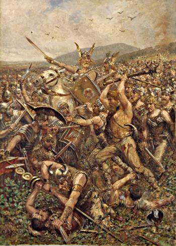 Otto Albert Koch: Varusschlacht, 1909