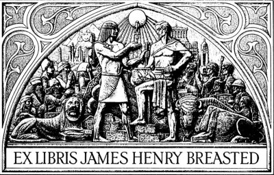 personal bookplate of James Henry Breasted