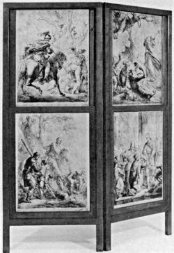 Arminius has Varus' head brought to King Maroboduus