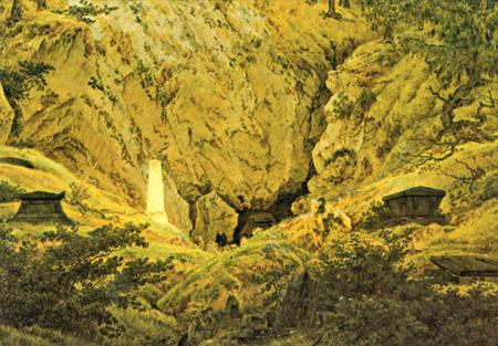Caspar David Friedrich: Grabmale alter Helden (Gräber gefallenere Freiheitskrieger, Grab des Arminius)