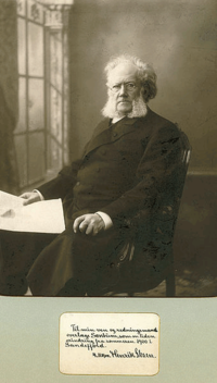 Henrik Ibsen phototographed by Gustav Borgen (1865-1926)