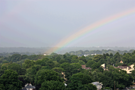 Rainbow, Sunday, 5:10 PM, click to enlarge