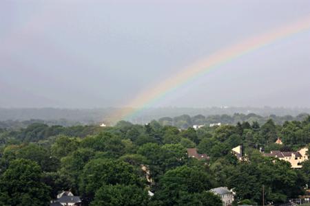 Rainbow, Sunday, 5:10 PM, click to enlarge