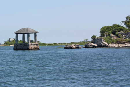 Ruins of a mansion on Sheffield Island, Norwalk, CT
