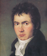 Ludwig van Beethoven, Part of a painting by W.J. Mähler, 1804