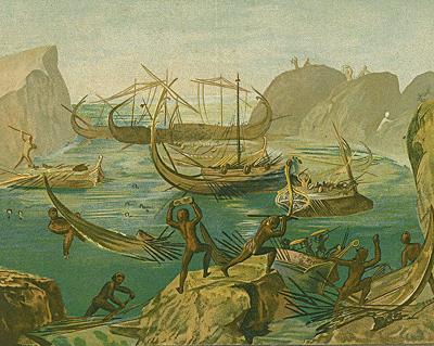 Odysseus at the Laestrygonians