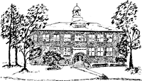 The Stamford Historical Society Headquarters in 1994 Drawing by Chris Clapes