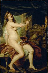 Death of Dido by Peter Paul Rubens, oil on canvas, 1640 CE
