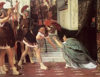 Claudius Summoned (1867). Now part of the Fred and Sherry Ross Collection in the US