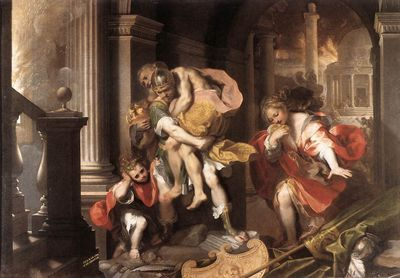 Federico Barocci, Aeneas' Flight from Troy, 1598, Galleria Borghese, Rome
