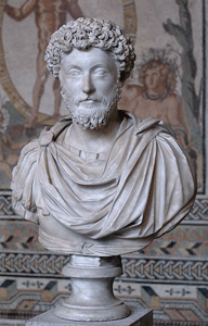 Bust of Marcus Aurelius at Glyptothek Munic