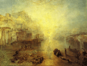 Turner: Ovid Banished from Rome, click for large image