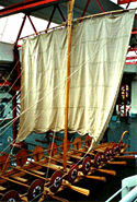 model of a river war ship