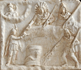 Mithras as the Sun god banqueting