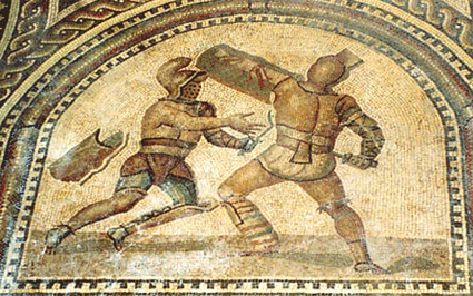 Gladiator Mosaic from Bad Kreuznach, all rights reserved