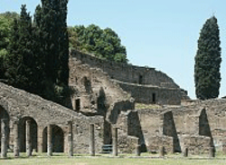Amphitheatre at Pompeii, click for larger image, Bluffton University