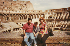 The Duffy family at the Colosseum