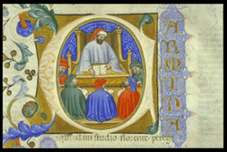 Boethius teaching his students, click for more