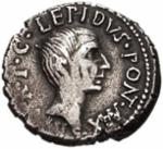 AR Denarius 42 BC, click for larger image