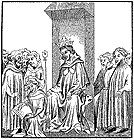 Clovis dictates the Salic law, click for full image