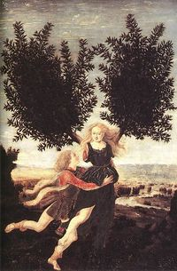 pollaiuolo's apollo_and_daphne, public domain picture from wikipedia
