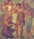 The doctor Japyx heals Aeneas