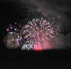 Fireworks in Stamford, July 3, 2008