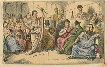 Cicero denouncing Cataline, Comic History of Rome