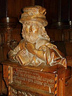 Medieval Carved Bust of Cicero