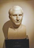Marcus Tullius Cicero, by Bertel Thorvaldsen as copy from roman original, in Thorvaldsens Museum, Copenhagen