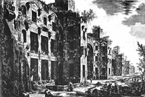 Drawing by Giovanni Battista Piranesi from the mid 18th century, click for more