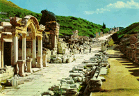 postcard of ephesus, click for enlargement