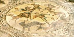Venatio from Gladiator Mosaic, Bad Kreuznach. Copyright