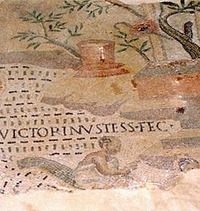 Victorinus signature, Ocenaus Mosaic