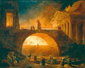 The burning of Rome, Robert Hubert (1733-1808), click for more